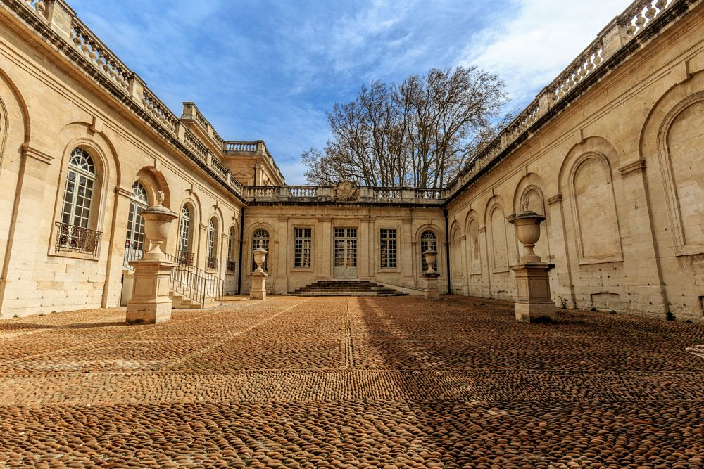 Photo in Astrophotography #architecture #yard #building #france #avignon