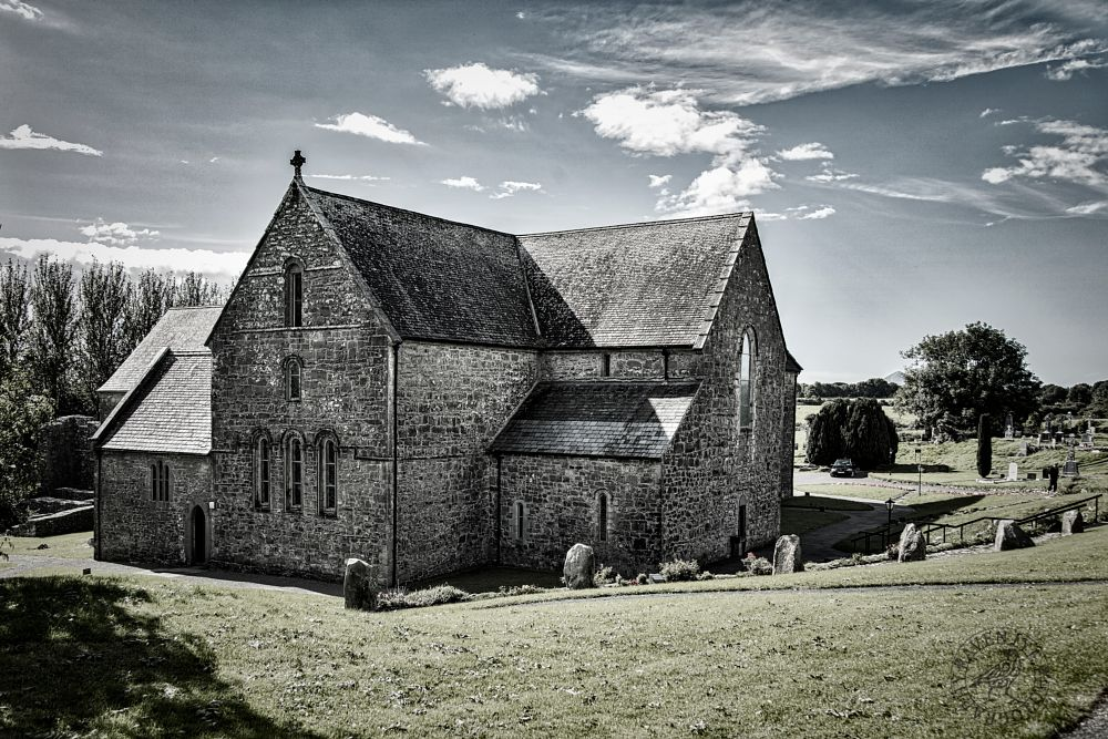 Photo in Random #historic #burial ground #church #abbey #clouds #saint patrick