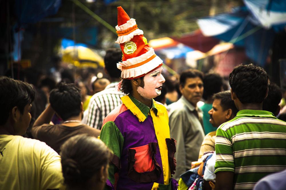 Photo in Street Photography #street #market #joker #survival #indian market