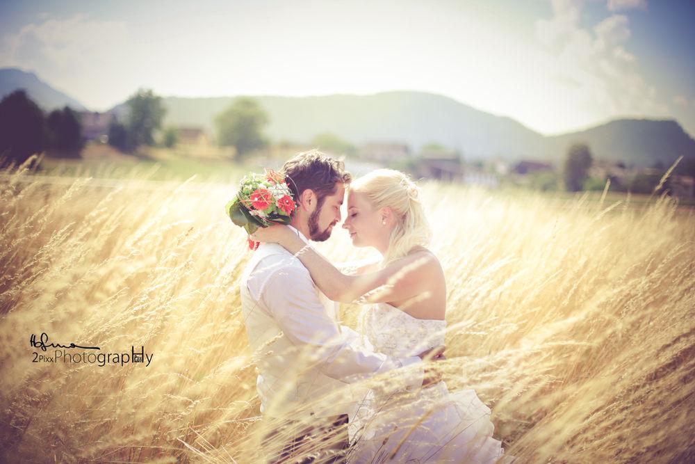 Photo in Wedding #wedding #love #alone #kiss #beauty #field