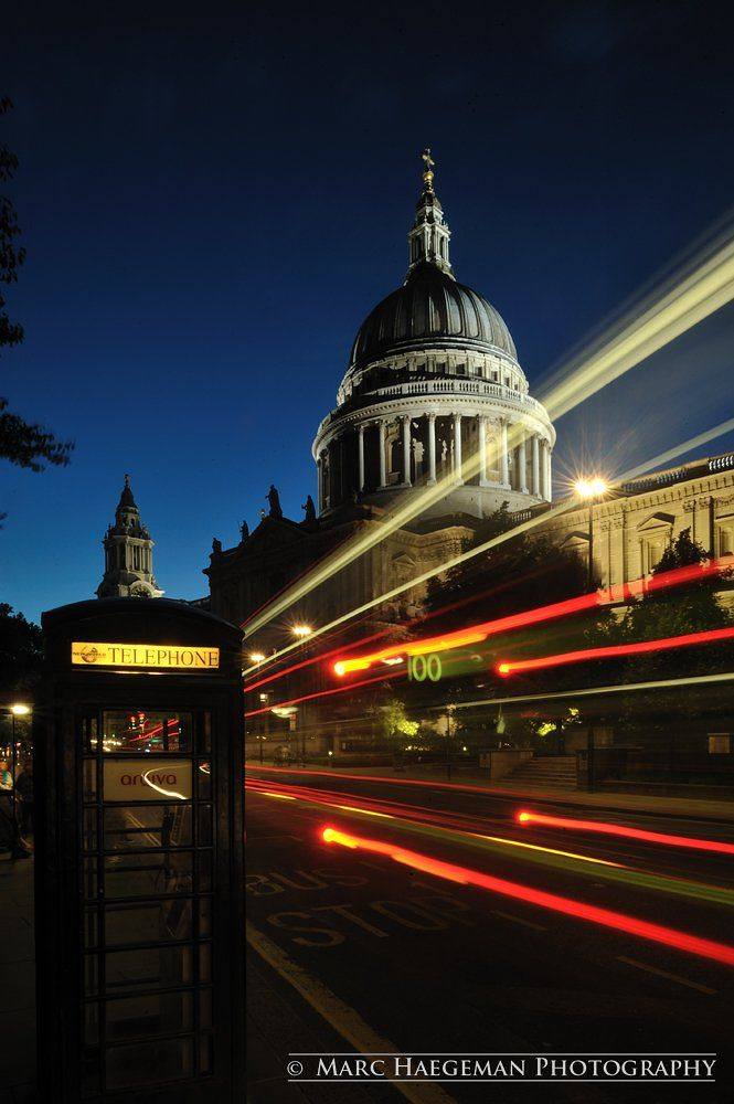 Photo in Street Photography #london #london city #st. paul's cathedral #street #long exposure #busses #marc haegeman