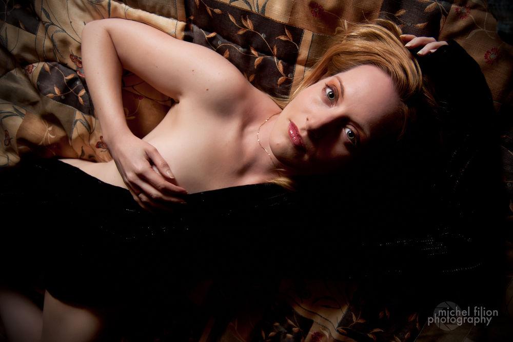 Photo in Random #portrait #glamour #bed #strobist #model
