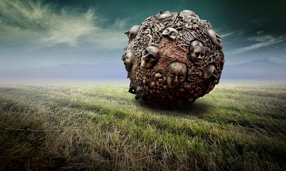Photo in Fine Art #meanwhile in russia #ball #fiels #coleopter #sky