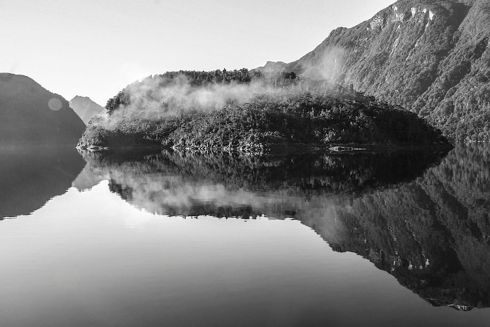 Photo in Black and White #roger sonneland #b/w #seascape #b/w of fiordland new zealand