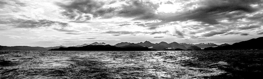 Photo in Black and White #roger sonneland #b/w seascape #b/w #b/w of fiordland new zealand