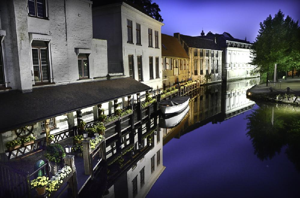 Photo in Landscape #bruges #night #canal