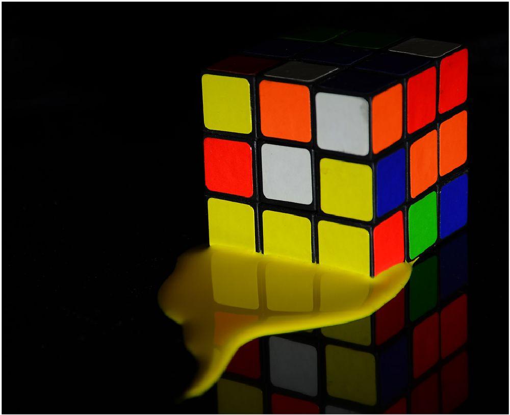 Photo in Fine Art #yellow #paint #rubik #cube #color #colour