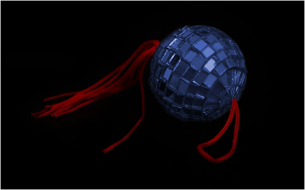 Photo in Fine Art #mirrorball #blue #red