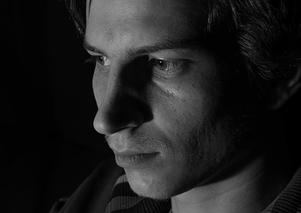Photo in Black and White #black #white #portrait #think #about #it