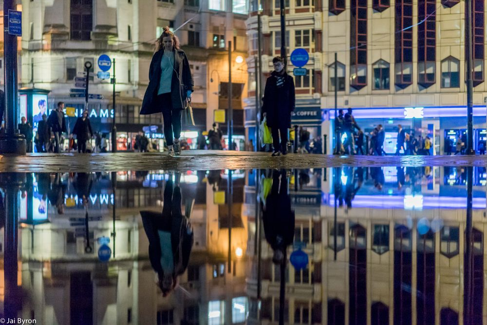 Photo in Street Photography #reflections #night #ambientlight