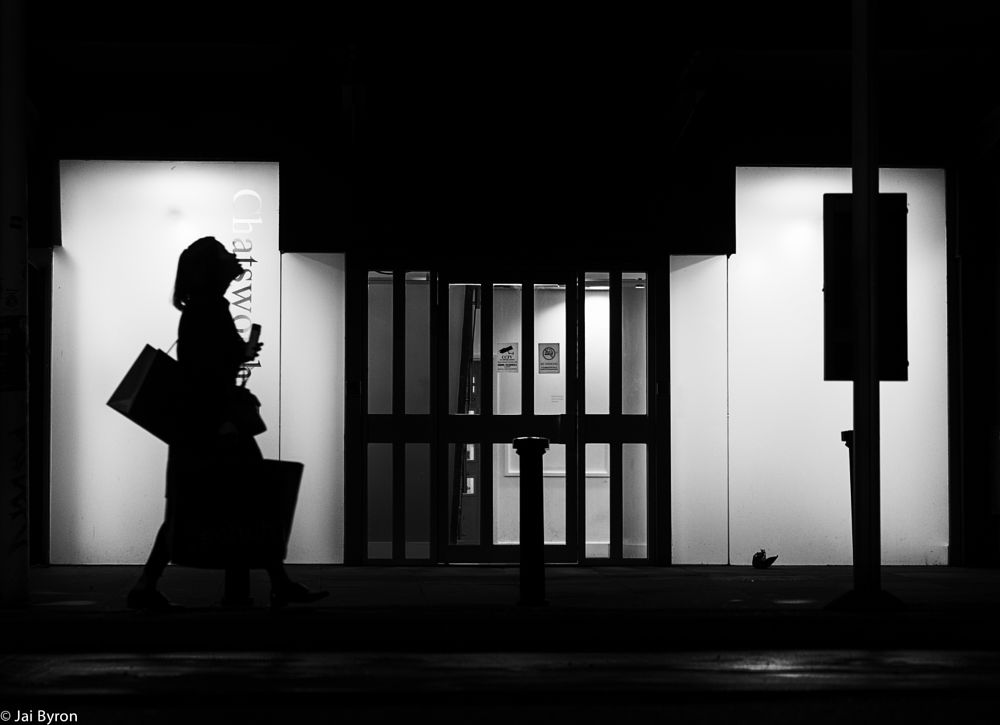Photo in Street Photography #silhouette #manchester #night