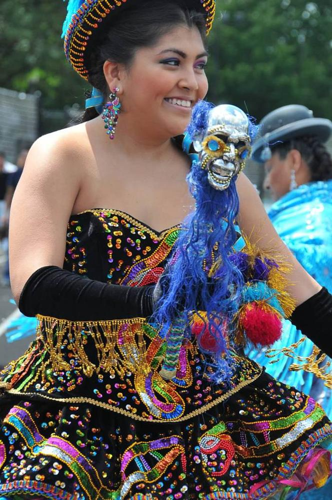 Photo in People #dance #culture #bolivia #skull