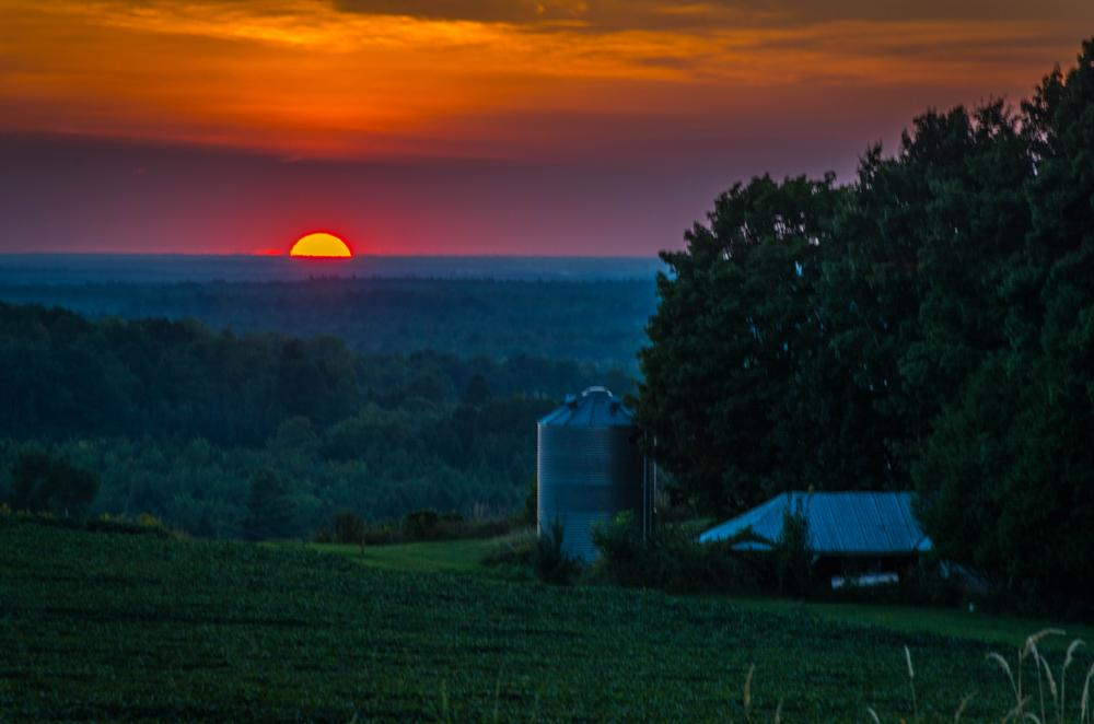 Photo in Landscape #landscape #farm #sunset #field