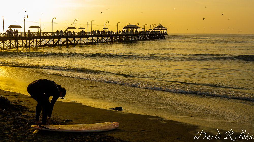 Photo in Landscape #sunset #ocean #surf #sports #sport #water #sea #beach #summer #yellow #sunsets #landscape