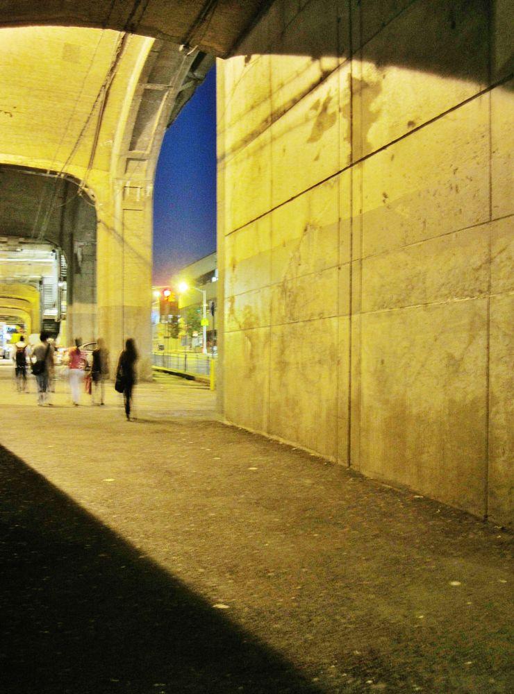 Photo in Urban #subway #night #city #urban #transit #nightphoto