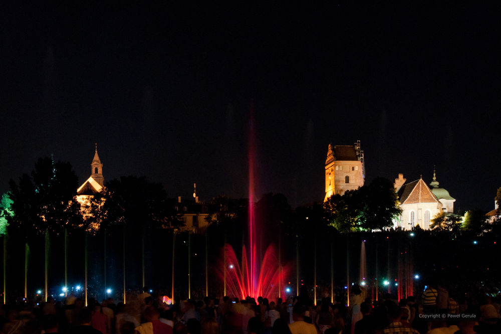 Photo in Street Photography #warsaw #poland #old town #night #fountain