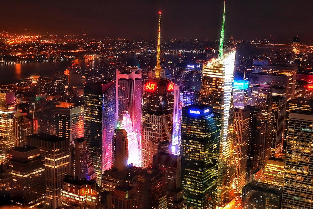 Photo in Cityscape #view #lights #night #buildings #skyscrapers #city #urban #travel #ny #nyc #new york #manhattan #usa #america