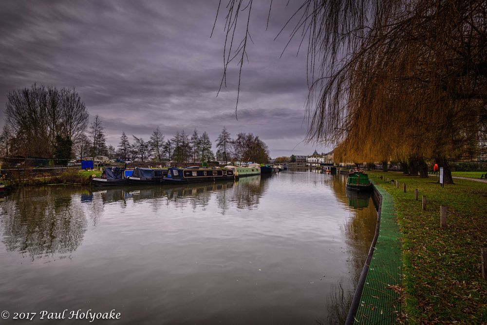 Photo in Landscape #river #barge #clouds