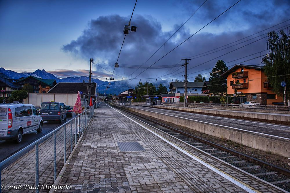 Photo in Landscape #track #mountains #station