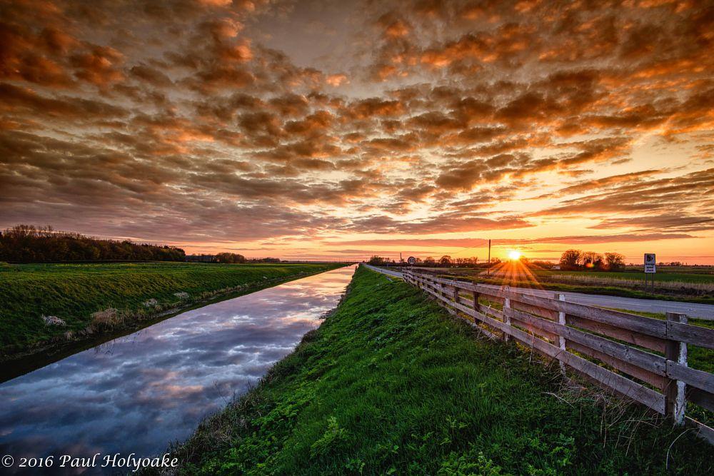 Photo in Landscape #drain #sunset #clouds