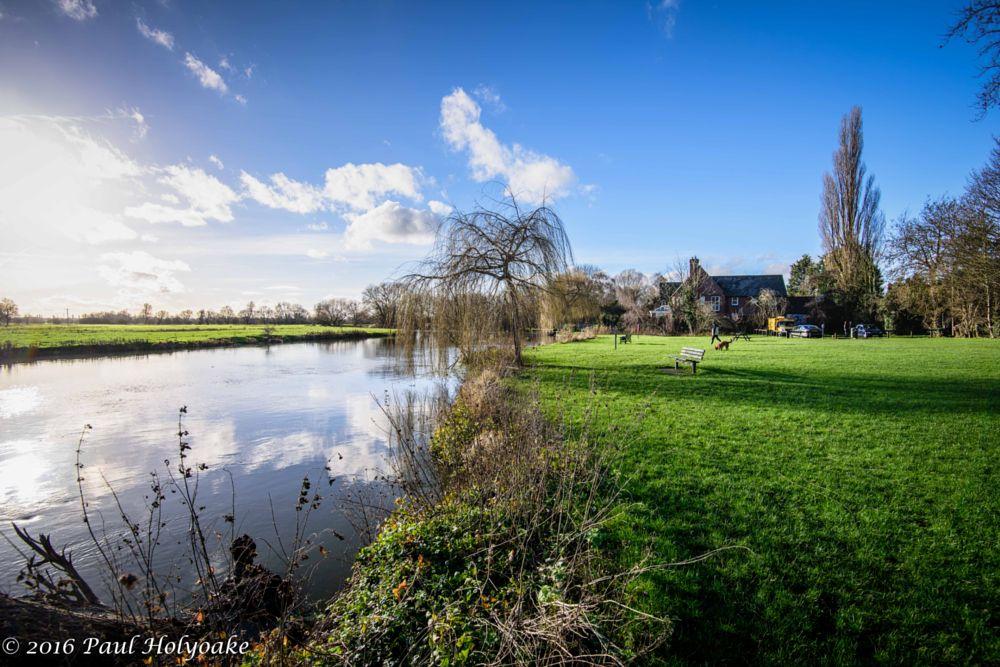 Photo in Landscape #river #field #reflection