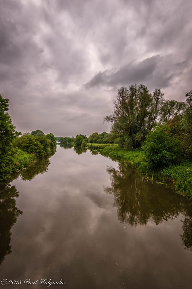 Photo in Landscape #river #clouds #trees