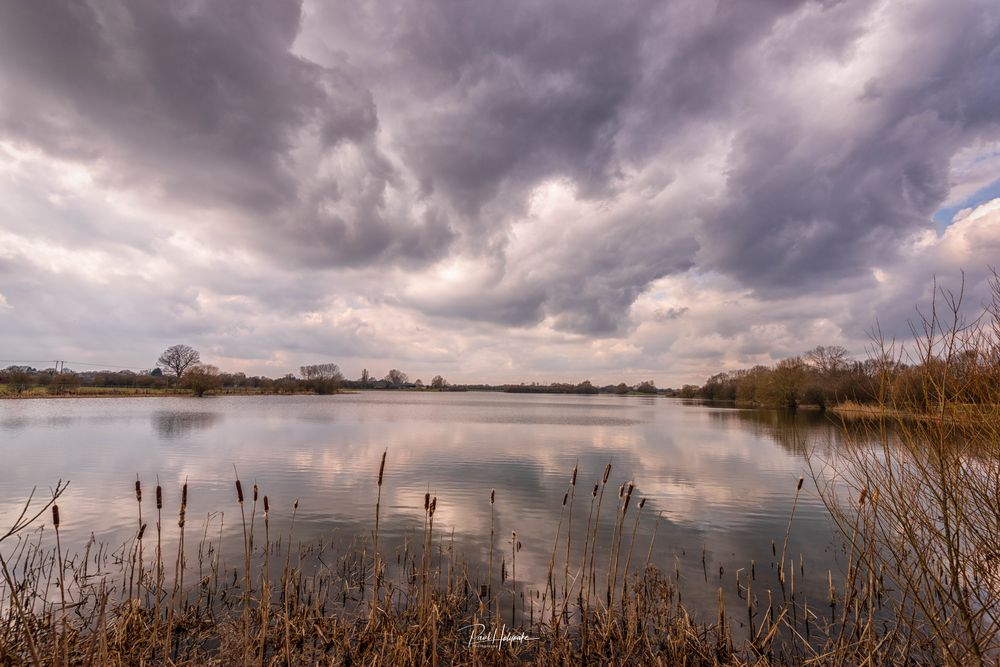 Photo in Landscape #lake #trees #clouds