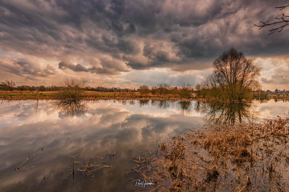 Photo in Landscape #lake #clouds #trees