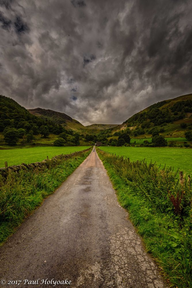 Photo in Landscape #fells #road #clouds