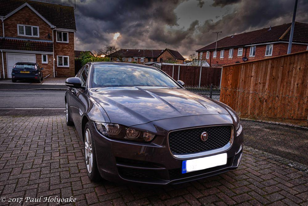 Photo in Vehicle #car #jaguar #clouds