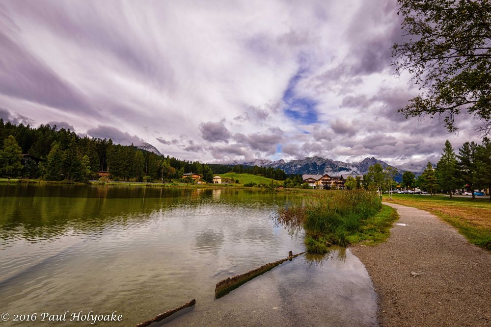 Photo in Landscape #lake #mountains #clouds