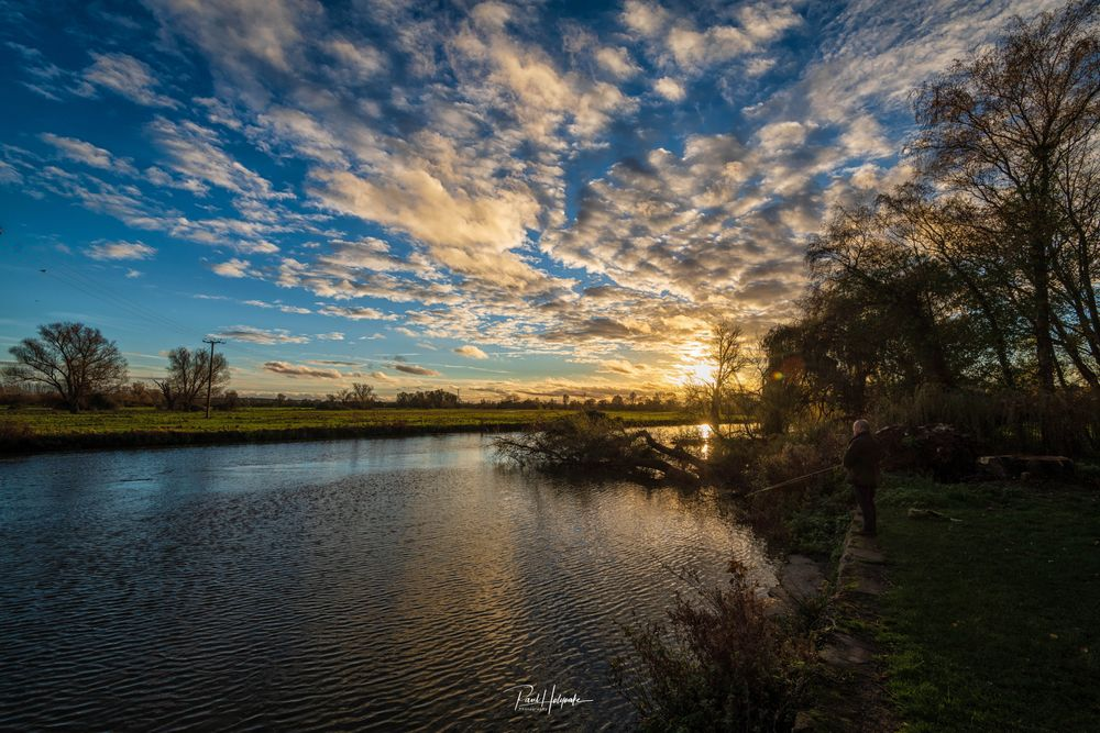 Photo in Landscape #river #trees #clouds
