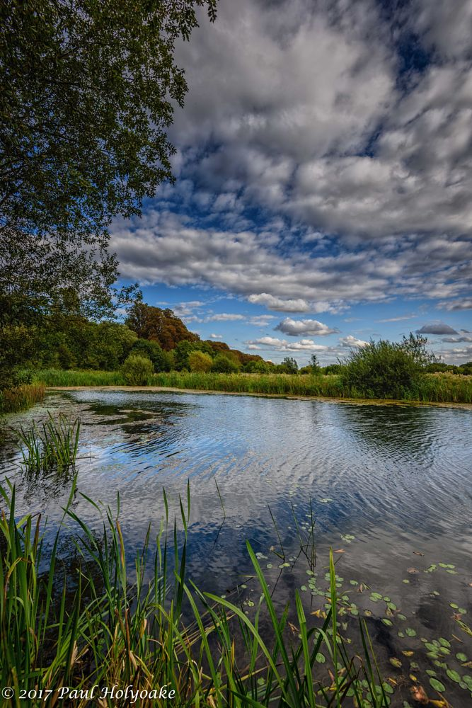 Photo in Landscape #lake #reflection #clouds