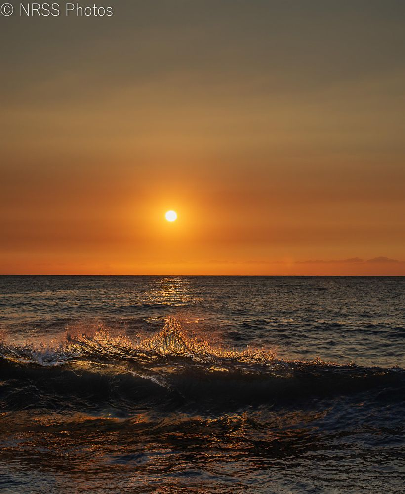 Photo in Sea and Sand #sunset #ocean #waves