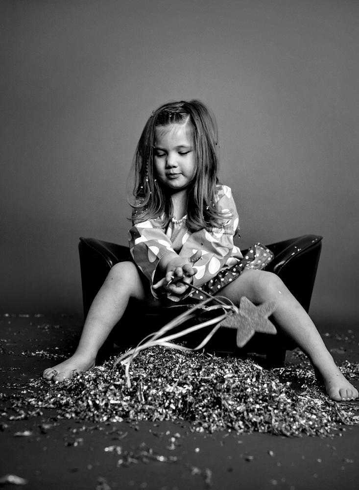 Photo in Family #glitter #princess #fun #black and white