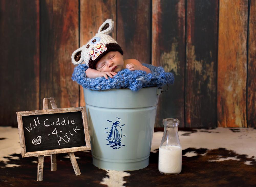 Photo in Family #newborn #boy #milk #cow #country #cute #fun #sweet #cozy