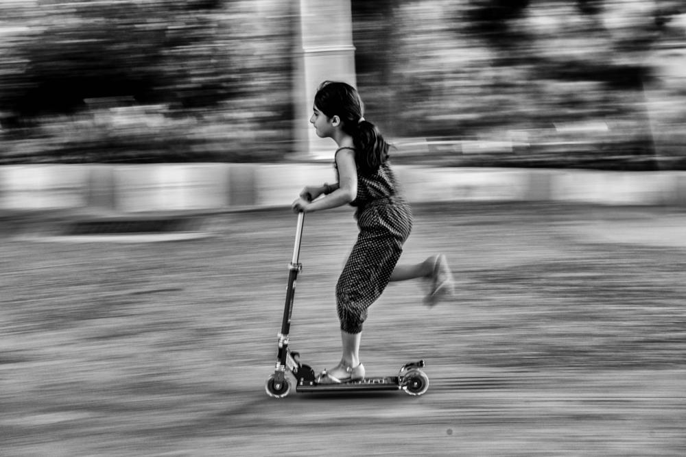 Photo in Street Photography #black&white #girl