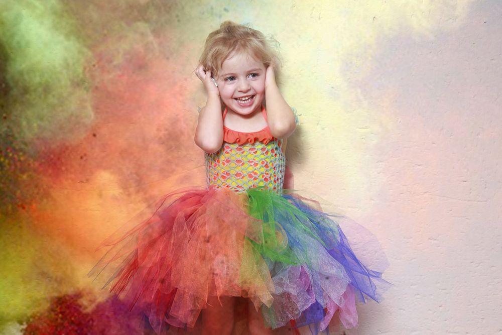 Photo in Portrait #colour #rainbow #fun #girl #magic #laughter #happiness #tutu #child