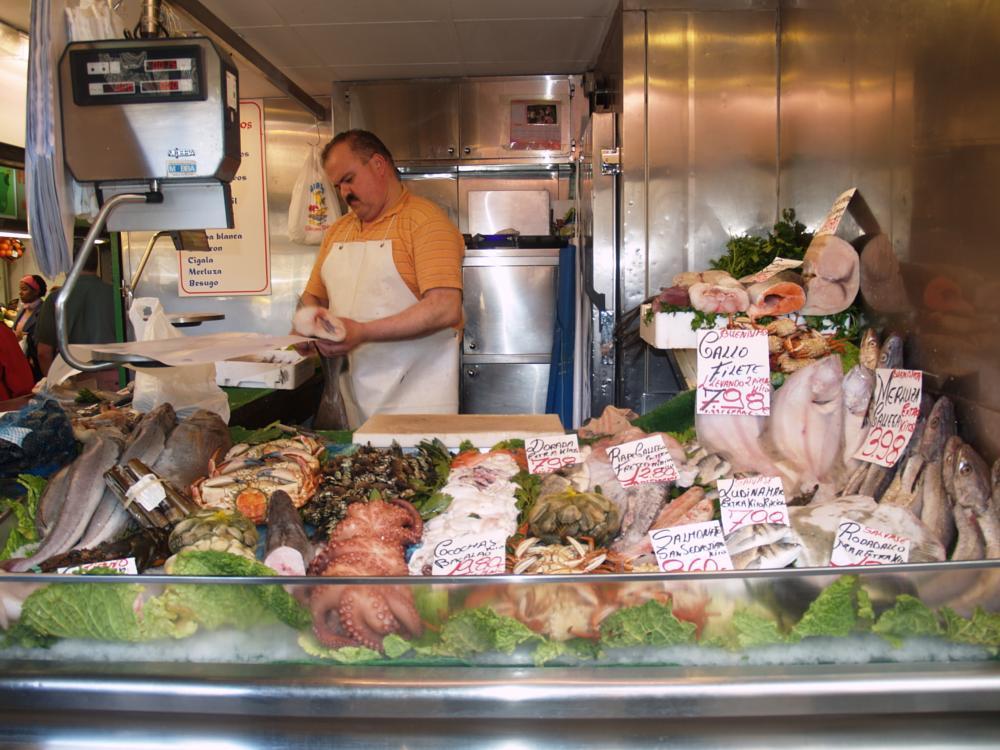 Photo in Cityscape #pescadería #zaragoza #gamboa #pescadero #pescado #manjares #mercado
