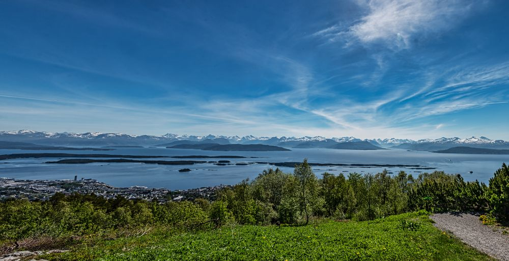 Photo in Landscape #molde #norway #panorama #scandinavia #sea #sky #mountains #snow #ice #summer #town #fjord #travel #tourism #islands #west coast #landscape #nature