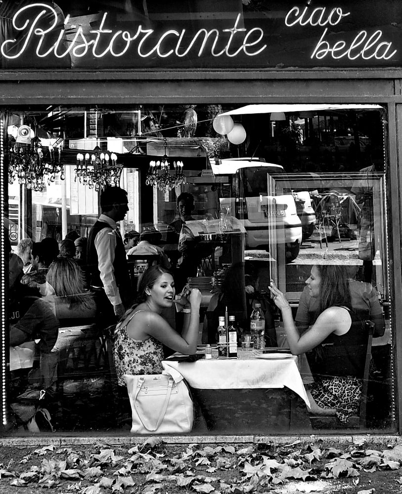 Photo in Street Photography #rome #restaurant #street #street photography #candid #olympus omd e-m5