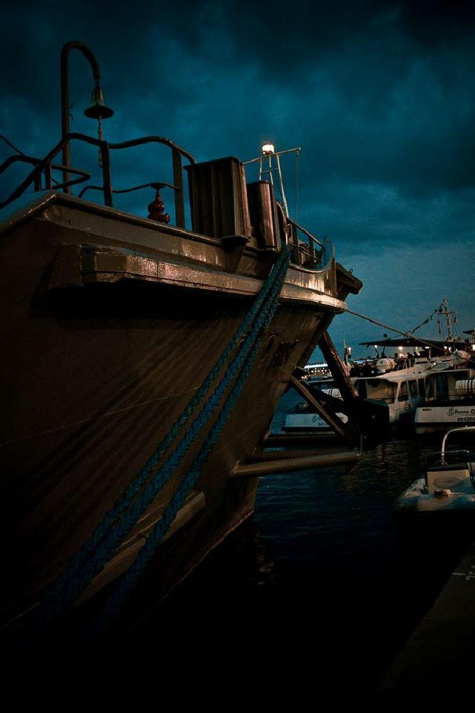 Photo in Travel #ship #night #dark #sea