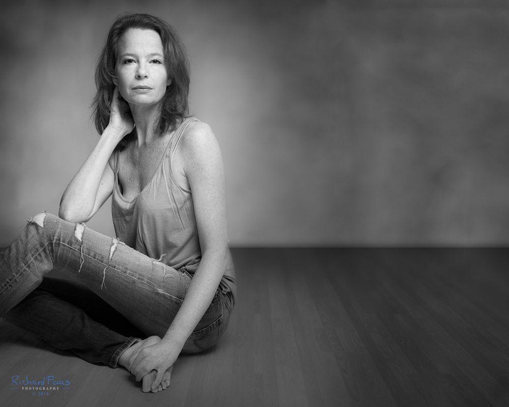 Photo in Portrait #woman #portrait #female #model #beauty #jeans