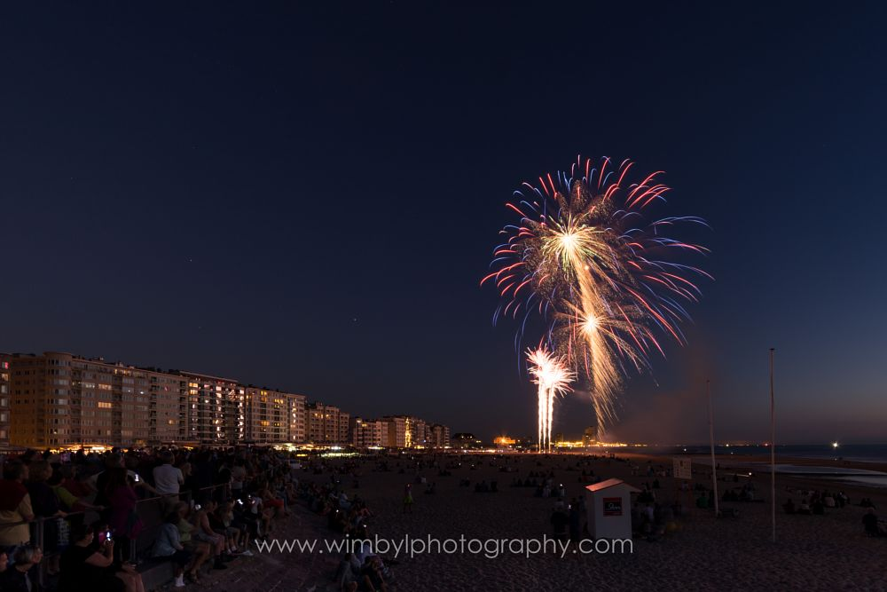 Photo in Landscape #fireworks #ostend #oostende #beach #belgium #wim byl #wimbyl.com #wimbylphotography.com #nightshot #long exposure