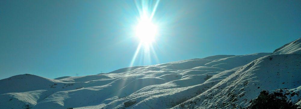 Photo in Nature #snow #sun #peek #mountain #ski #bright
