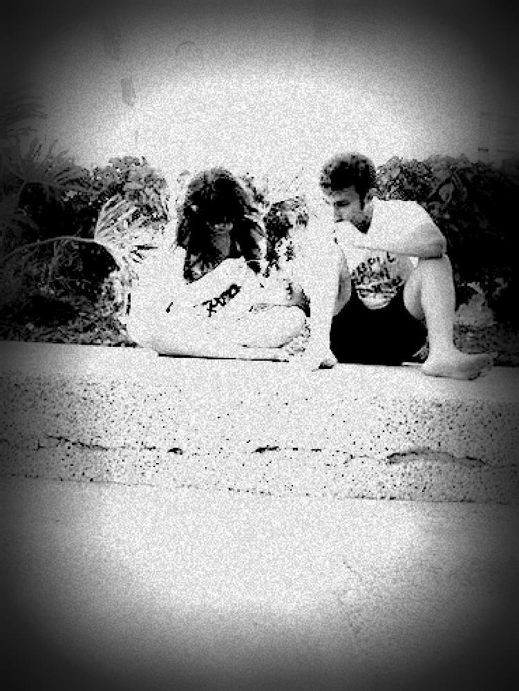 Photo in Black and White #black #white #friend #like #pool #bestfriend #love