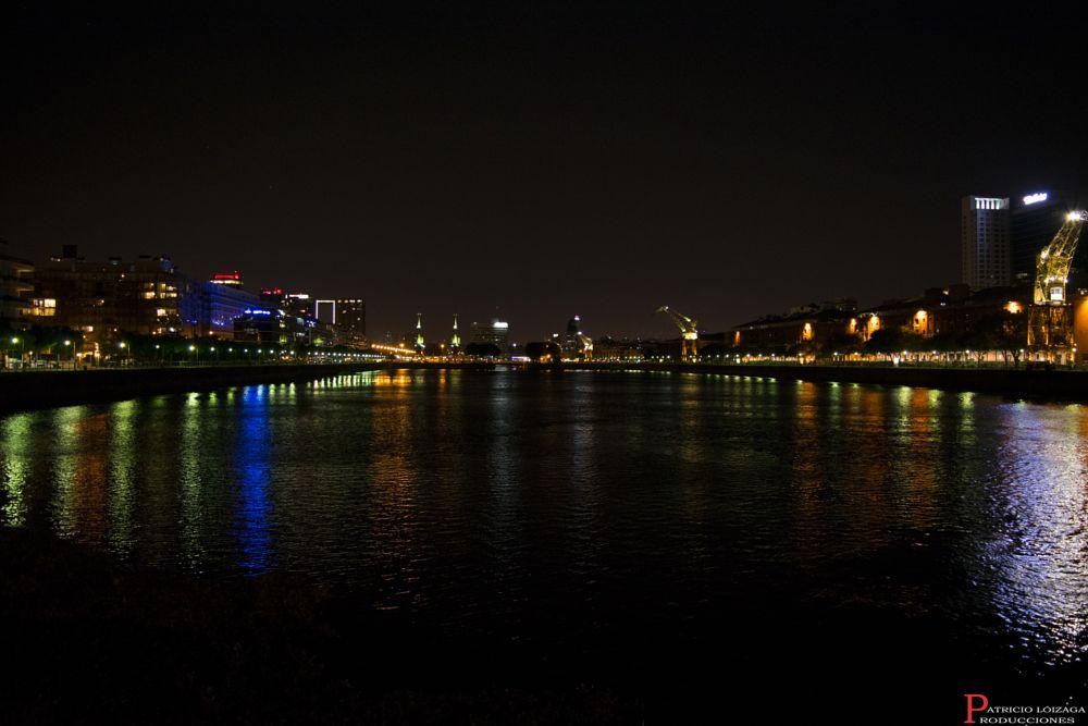 Photo in Cityscape #puerto madero #argentina #dark #night #dock #lights #sunset #buenos aires