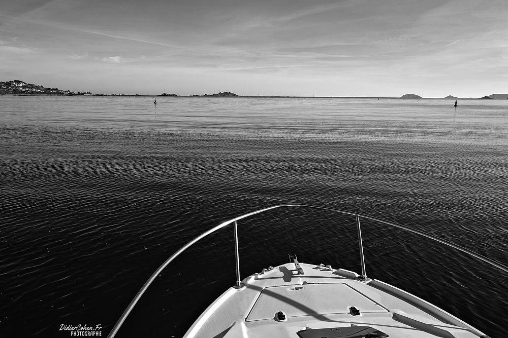 Photo in Black and White #blackandwhite #boats #seascape #coast #sea #brittany #france