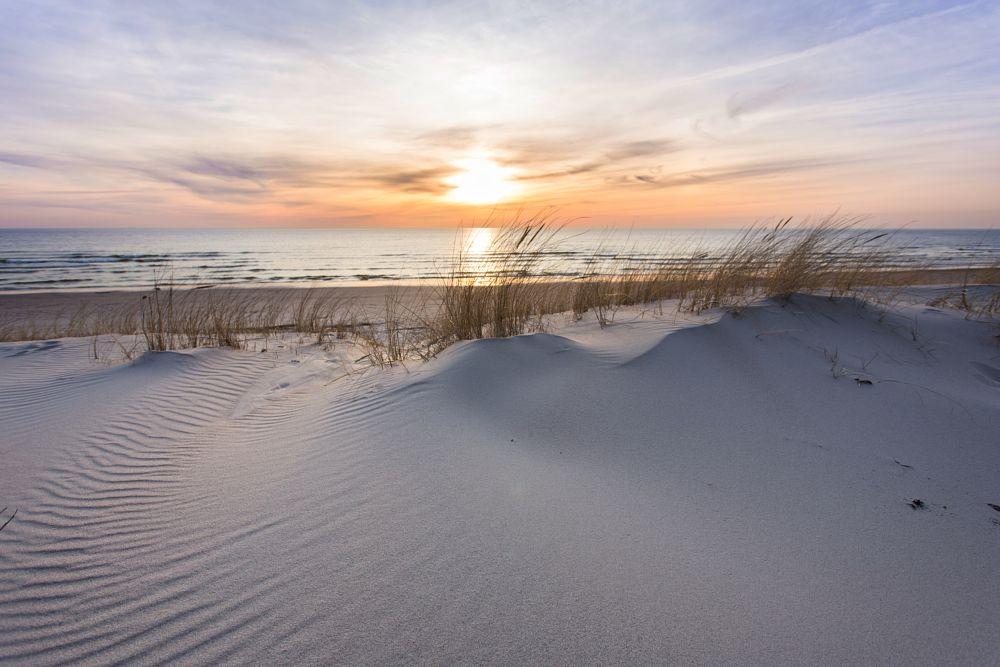Photo in Nature #dunes #evening #sunset #sea