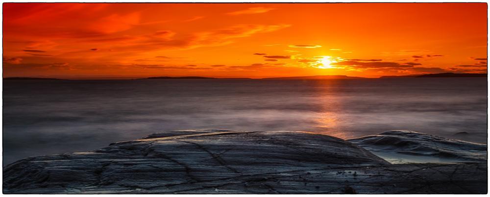 Photo in Landscape #long exposure #colors #coast #rocks #sunset #clouds